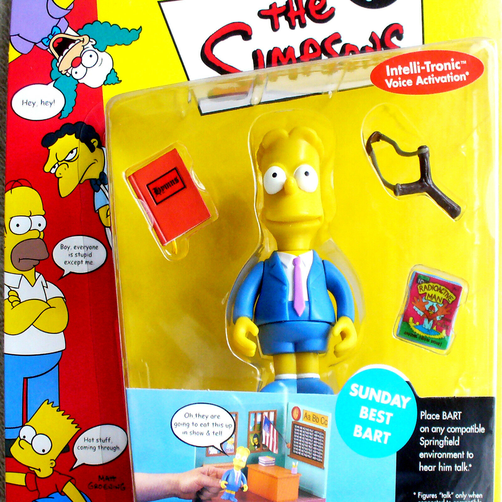 The Simpsons - Sunday Best Bart Action Figure Playmates Wave 2 Retired NEW WoS