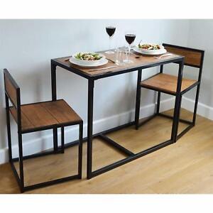 details sur table de salle a manger et 2 chaises set 2 personne economie d espace compact home furniture neuf afficher le titre d origine