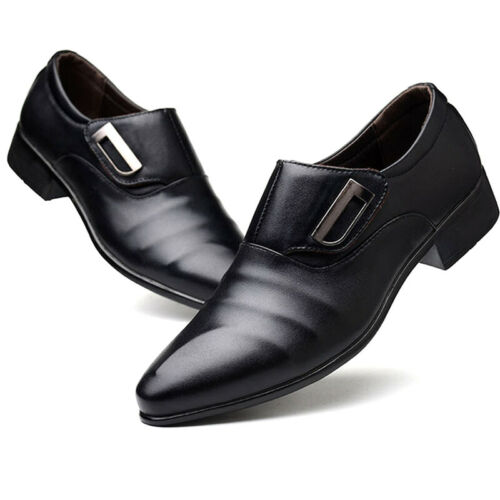 Men Formal Dress Oxfords Leather Shoes Slip On Office Party Wedding Work Loafers