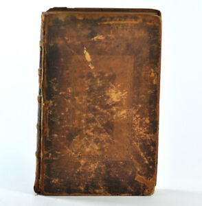 1709-Antique-The-History-of-Addresses-Leather-Bound-Book-John-Oldmixon-English