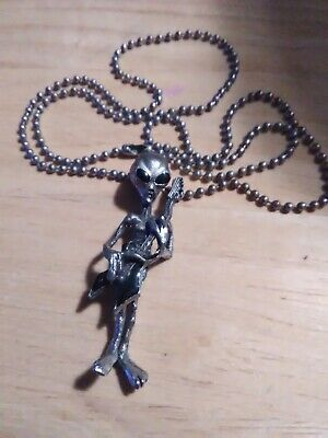 Alien Playing Guitar Necklace Ample Supply And Prompt Delivery