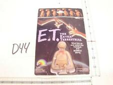D44 VINTAGE 1982 LJN TOYS E.T. WIND UP  ACTION FIGURE ON CARD PHONE HOME 2 1/2""