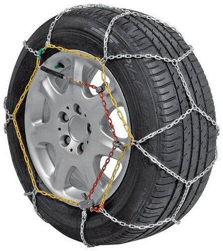 UNIT 6 SNOW CHAINS 9MM FOR NEW FIAT 500 WITH TIRES 195//45//16