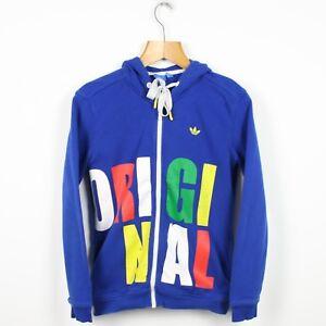 Originals azul y Adidas para completa Sudadera mujer capucha de cremallera con FUaCa8