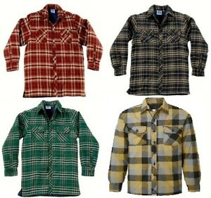 Padded Lined Lumberjack Shirt Mens Blue Castle Conwy S Xxxl Red Blue