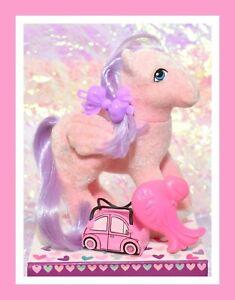 My-Little-Pony-MLP-G1-Vtg-So-Soft-North-Star-Flocked-Pegasus-Original-Brush