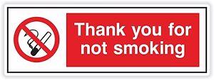1 X Remerciements Pour Pas Smoking Sticker 5.1cm X 15cm Mx5qxubs-07225155-579655932