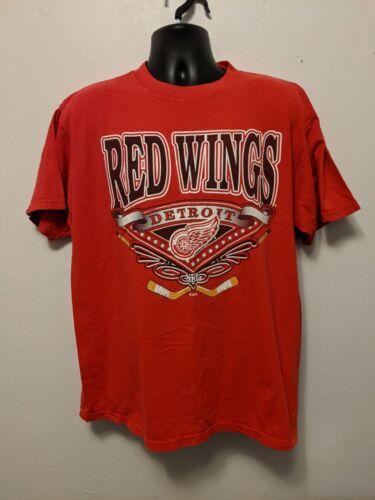Vintage 90s Detroit Red Wings Back To Back Shirt N