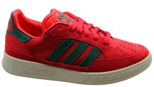 Details zu Adidas Originals Suisse Mens Trainers Mens Lace Up Shoes Red Leather M17208 D67
