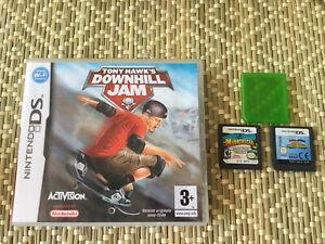 Lot De 3 Jeux Nintendo Ds Tony Hawk Downhill Jam Madagascar Mario Sonic Olympic