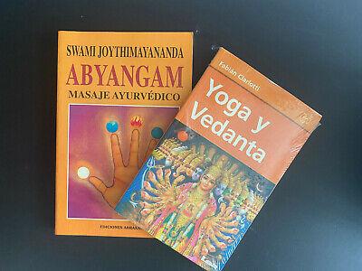 Lote 2 libros:Abyyangam Masaje Ayurvedico Swami Joythimayananda, Yoga y Vedanta   | eBay