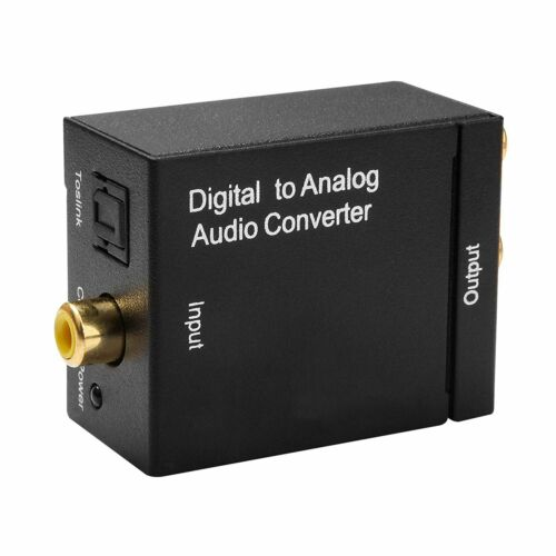 Digital zu Analog Audio Konverter Wandler Toslink Koaxial zu 3.5mm Klinke RCA-ON