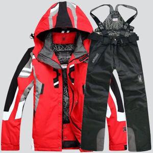Men-039-s-Winter-Ski-Suit-Jacket-Waterproof-Coat-Pantsuits-Snowboard-Snowsuits-Hot