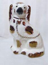 Vintage Arthur Wood Staffordshire Mantle Dog with Bronze Coloured Detail