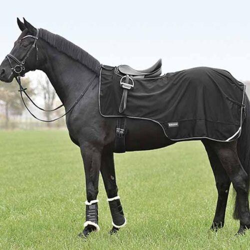 BUSSE Softshell-Ausreitdecke schwarz Nierendecke Regendecke Pferdedecke TOP