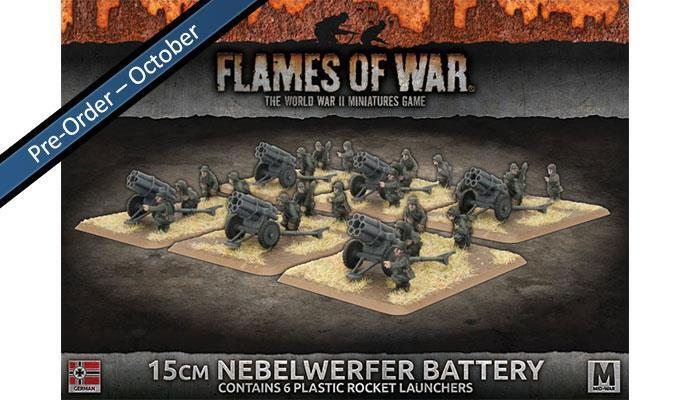 Gbx118  Nebelwerfer Battery - Flames of war -