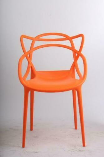 2 Masters Chair Style indoor /outdoor Modern Retro Dining Garden Chair - Orange