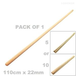 Wooden-Broom-Handles-1-1-Meter-x-22mm-Thick-Brush-Flower-Support-Flag-Pole-NEW