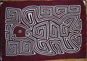 Patchwork Mola Der Kuna Indianer SchildkrÖte Angenehm Zu Schmecken Quilt Textil-kunst-bild