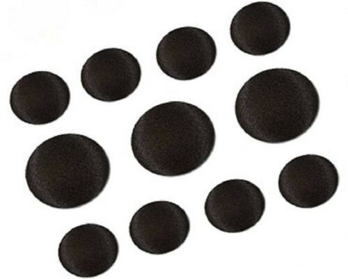 11Pcs Tuxedo Suit Buttons Set Black Smooth Satin Covered Shank Buttons