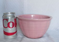 "Antique Pink Stoneware Pottery Fluted Squares 4"" Tall Mixing Bowl"