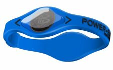 POWER BALANCE ELECTRIC SERIES 100% SILICONE WRISTBAND SIZE: S  (17.5CM) BLUE