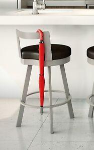 Leather counter stool set of 2 ivory contemporary bar stools - Amisco Blake Swivel Counter Bar Stool Or Spectator Stool
