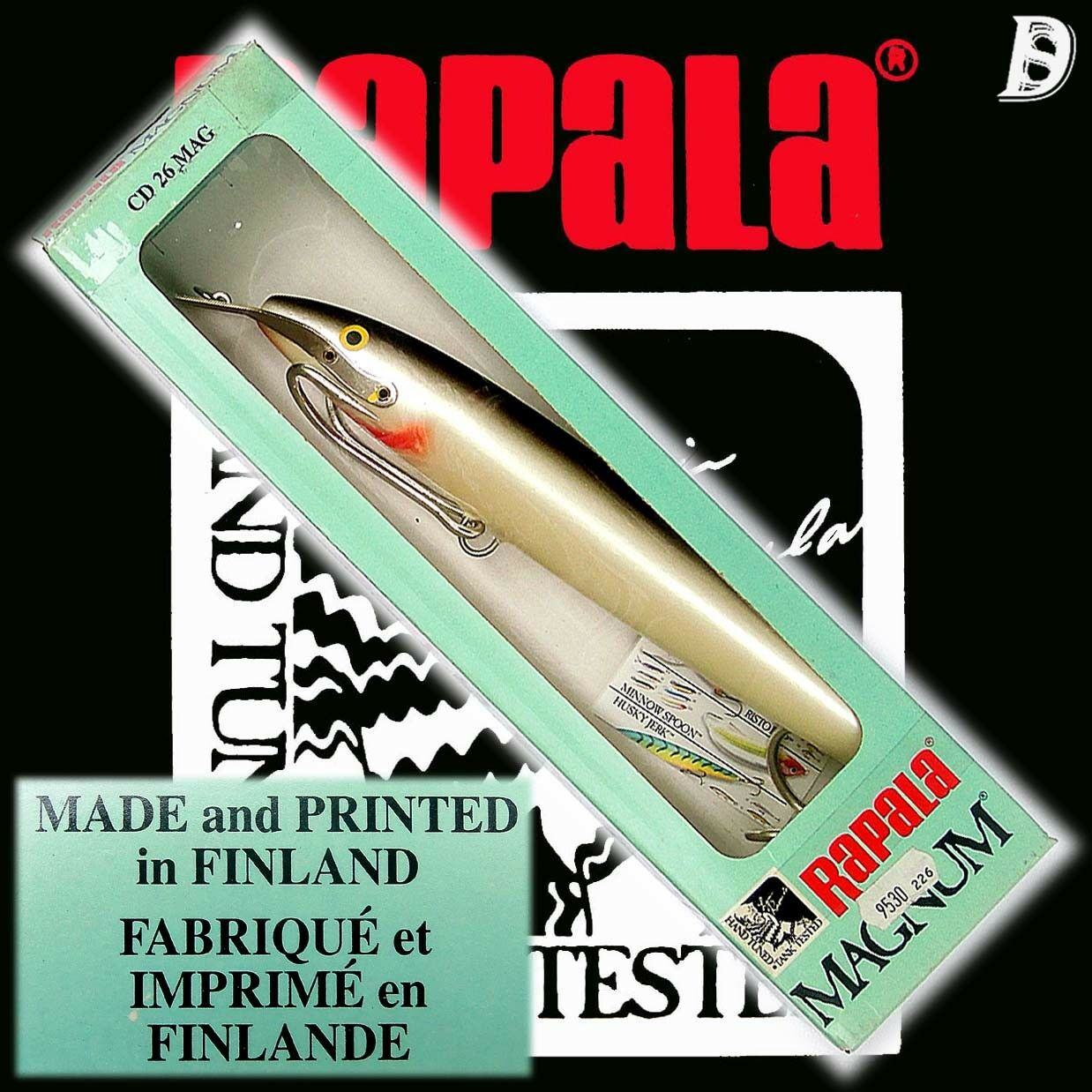 Vintage Rapala Magnum Countdown 26cm S sehr alte Produktion aus Finnland, NiB