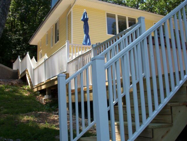 Contractor Deck Railing 6ft x 36in Aluminum Residential Railing Hammered Black