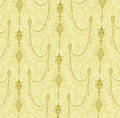 Dolls House Wallpaper 1/12th 1/24th scale Cream Quality Paper #29