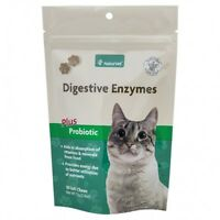 Naturvet Cat Digestive Enzymes Plus Probiotics 2-in-1 Soft Support Chew - 50 Ct