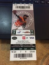 2016 SF GIANTS VS DODGERS TICKET STUB 4/8 ROSS STRIPLING DEBUT NEAR NO HITTER