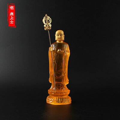 Tibetan Buddhism Hand painting resin statue Car decoration Ksitigarbha