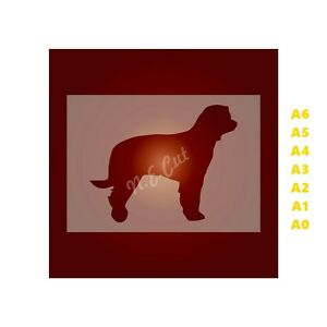 LABRADOODLE-Dog-Stencil-350-micron-Mylar-not-Hobby-stuff-DOGS112