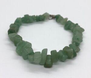 Vintage-Bracelet-8-Aventurine-Stone-Chunk