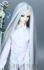 "1/3 8-9"" Bjd Wig Dal Pullip BJD SD LUTS DOD DD Dollfie Doll Wig black+white"