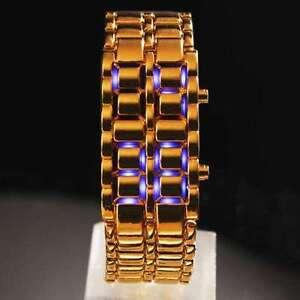 New-Blue-LED-Men-039-s-Teenager-039-s-Lava-Watch-Bracelet-Fashion-Watch
