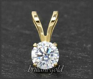 Diamant-Brillant-585-Gold-Anhaenger-mit-0-71-ct-Top-Wesselton-Si-14-Karart-NEU