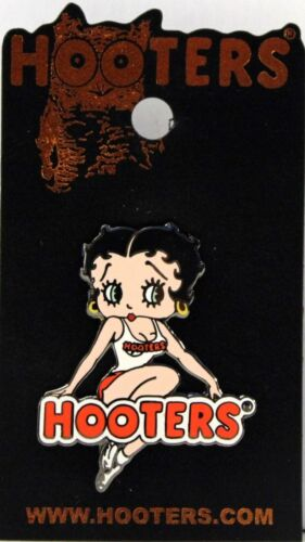 HOOTERS RESTAURANT COLLECTABLE GIRL BETTY BOOP ON HOOTERS NAME LAPEL PIN