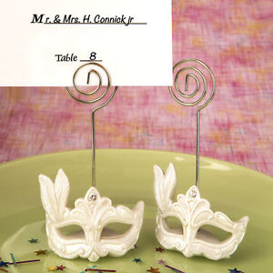 5f06a3b4cfb7 30 Mardi Gras Mask Themed Place Card Holders Bridal Shower Wedding ...