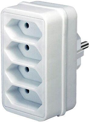 WunderschöNen Vierfach 4er Stecker Verteiler Adapter 1 X Schutzkontakt > 4 X Euro Brennenstuhl Perfekte Verarbeitung