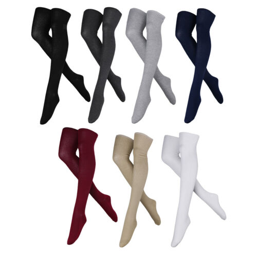 Damen Overknee Strümpfe Baumwolle Socken Stiefel Overknees Strümpfe Überknie