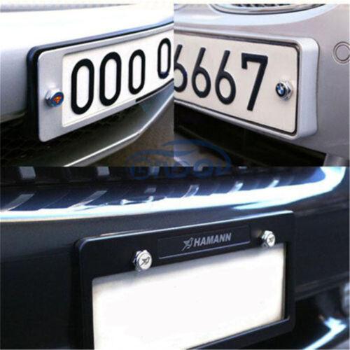 4PCS Metal Car Anti-Theft License Plate Frame Screw Cap Cover For HONDA Logo
