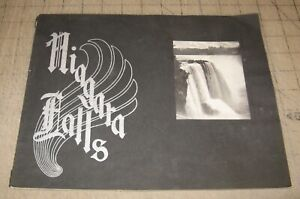 "Early 1900s NIAGARA FALLS Black & White Souvenir 11"" x 8.5"" Picture Booklet NICE"