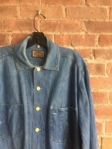 VINTAGE Armani Jeans Mens Denim Shirt Size Medium