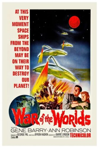 """VINTAGE WAR OF THE WORLDS #2 MOVIE POSTER 12/"""" X 18/"""""""