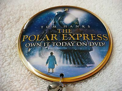 RX- TOM HANKS THE POLAR EXPRESS OWN IT TODAY ON DVD! (LOCO) PIN BADGE #36339