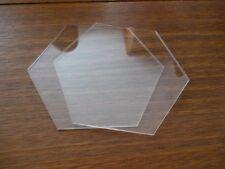 "5 inch Hexagon  Ganaching Plates Acrylic Cake Decorating Discs 5"""