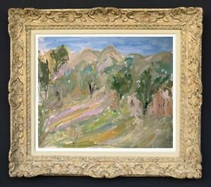 Raya safir (1909-2004) fauve landscape painting of provence 1950 (171)