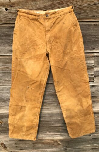Vintage 50's Brushmaster oilcloth hunting pants